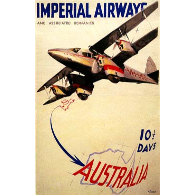 Imperial Airways, Australia, 1935