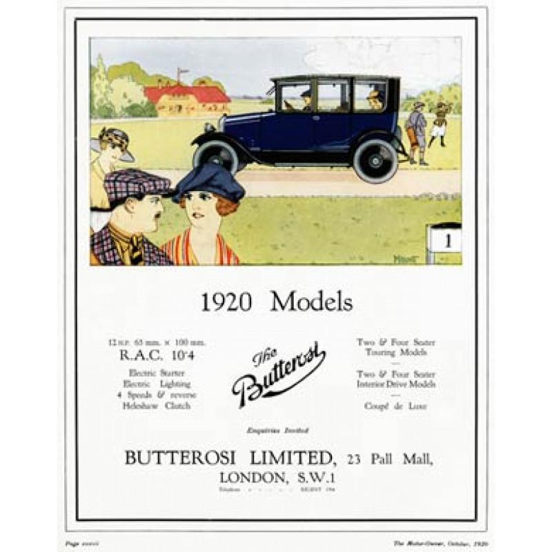 Butterosi Cars, 1920