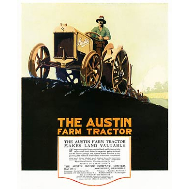 Austin Farm Tractor, 1920