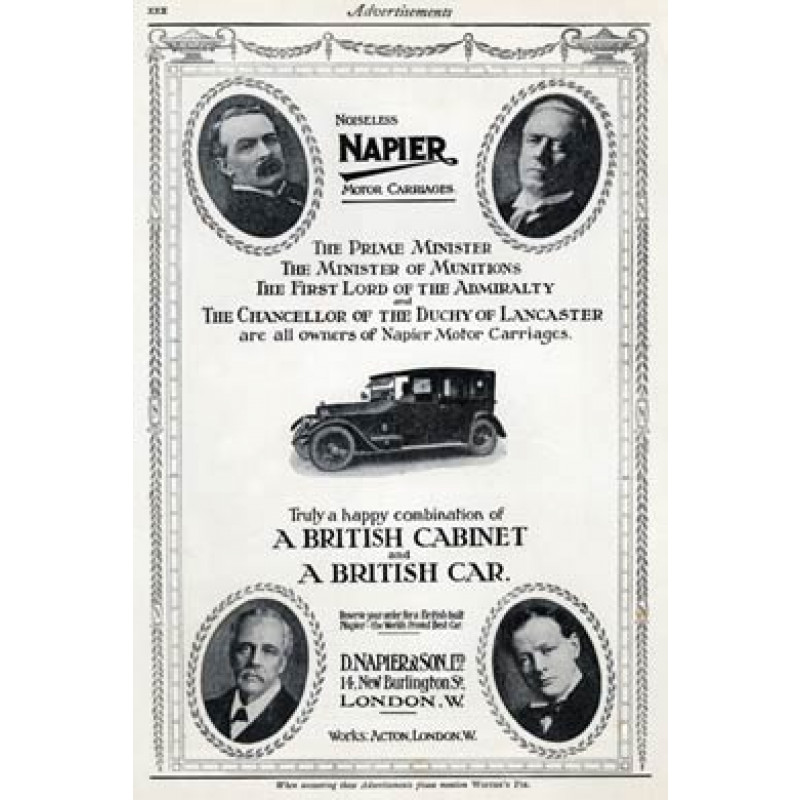 Napier Cars and the Cabinet