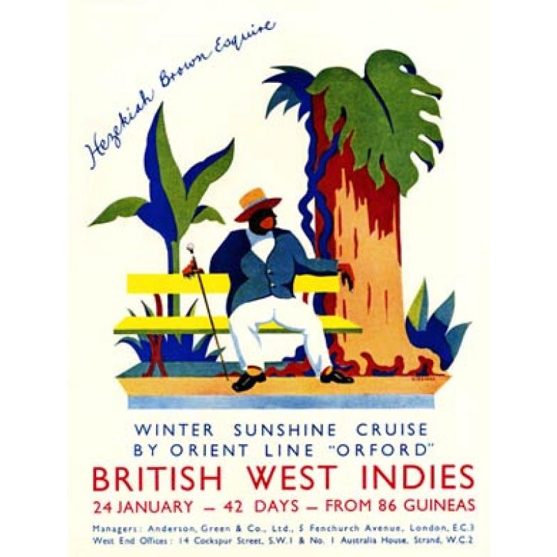 Orient Line, West Indies, 1932
