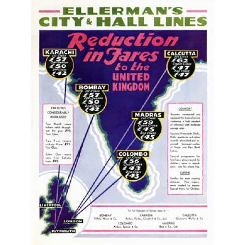 Ellermans City and Hall LInes, 1932
