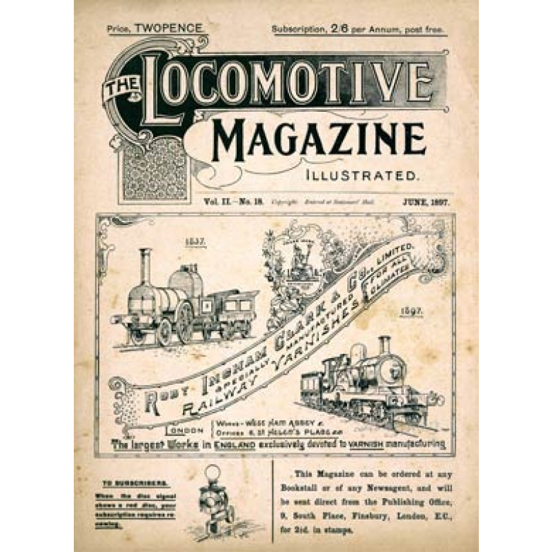 Locomotive Magazine, June, 1897