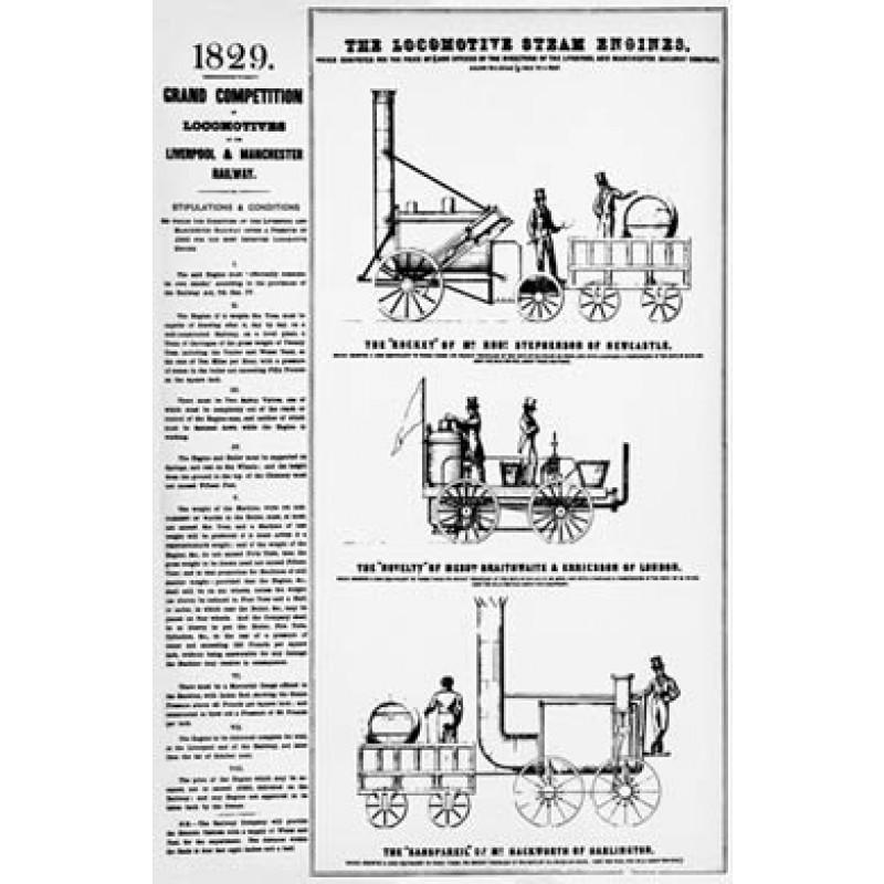 Grand Locomotive Competition, Rainhill, 1829