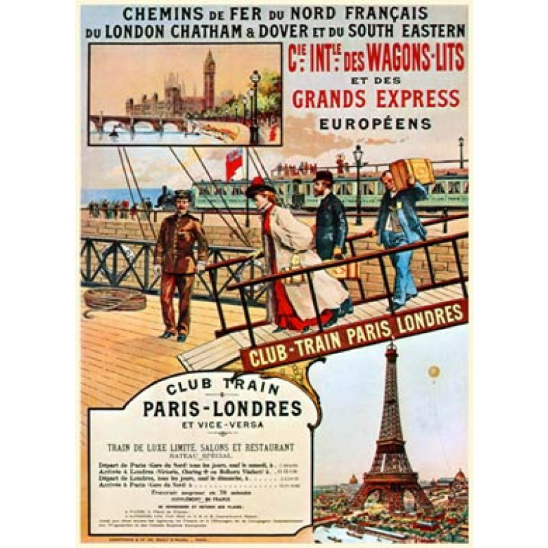 Paris to London, 1889