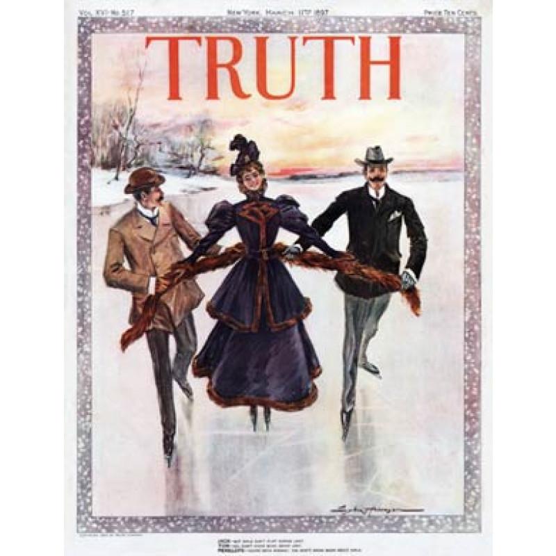 Skating In Lent, Truth 1897