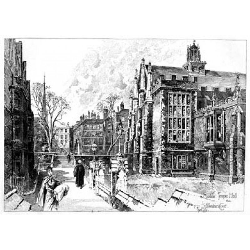 Middle Temple Hall & Fountain Court, 1892