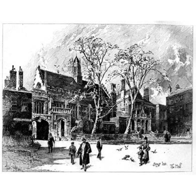 Gray's Inn, The Hall, 1892