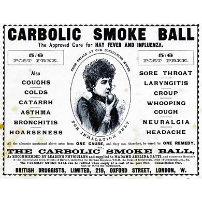 Carbolic Smoke Ball, 1897